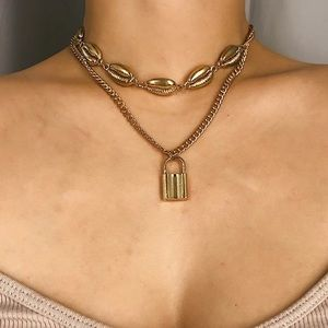 Fashion Gold Tone Necklace Statement